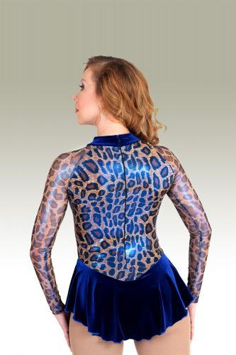 OBC_420b_Royal-Blue-Cheetah-with-semi-sheer-arms-and-velvet-skirt_FS-Dress_-BACK_IMG0515