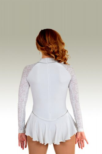 OBC_542a_White-Crushed-Velvet-with-Silver-Darting-Trim-and-Lace-Arms_FS-Dress_-BACK_IMG0543