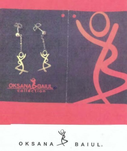 OKSANA BAIUL Logo Earrings
